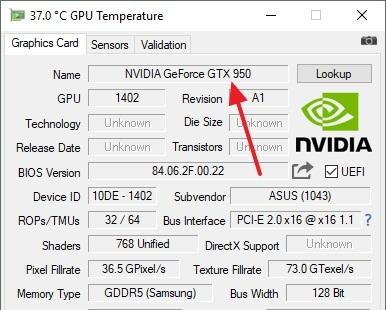 Определяем серию видеокарт NVIDIA