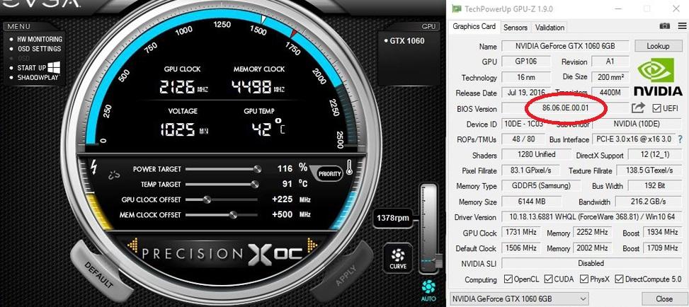 Обновляние BIOS на видеокарте семейства NVIDIA - Инструкция