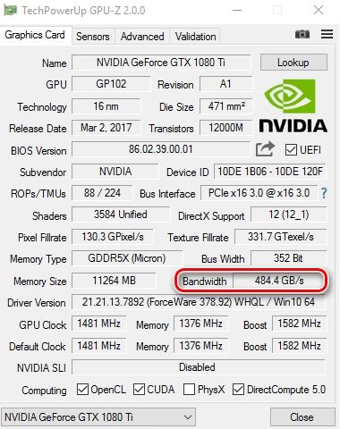 На что влияет частота памяти видеокарты